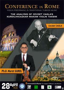 Keman roma konser afiş tasarımı
