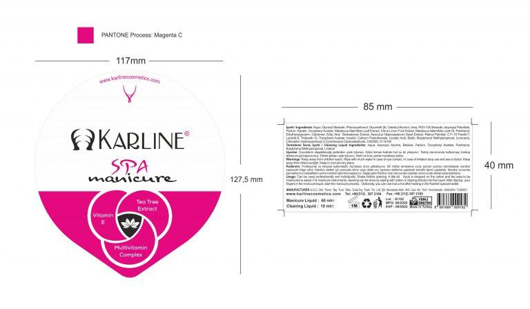 Manikür tası etiket tasarımı