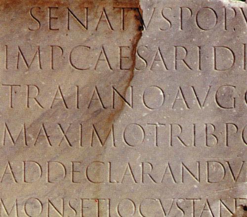 Trajan Sütunu alfabesi