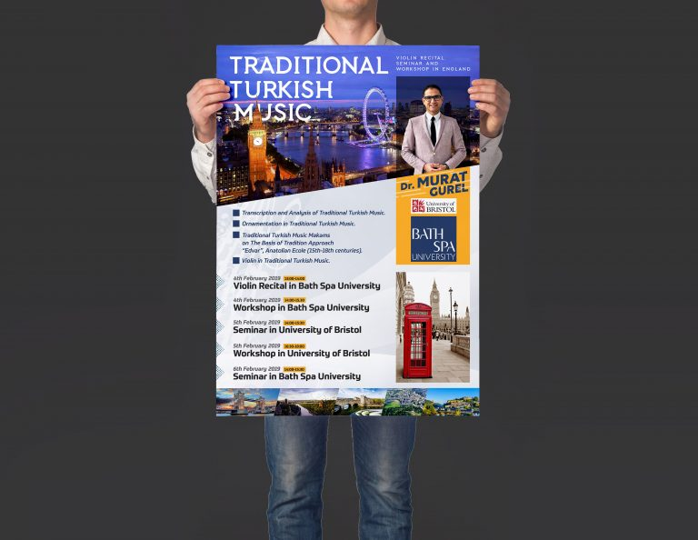 konser ve seminer afiş tasarımı