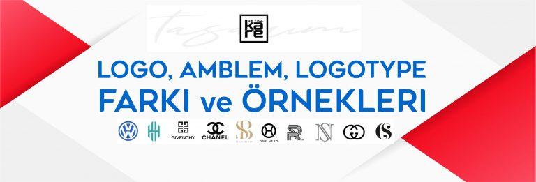 logo amblem logotype arasındaki farklar örnekleri