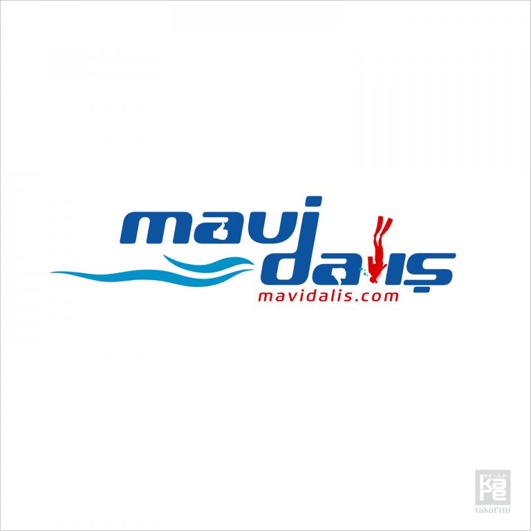 mavi dalış logo tasarımı