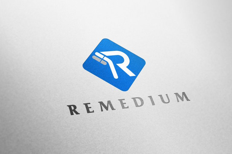 medikal logo tasarımı, r harfi logo