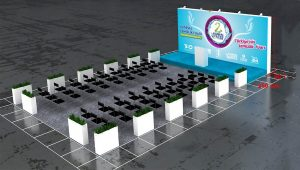 Temizlik konferans stand sahne tasarımı