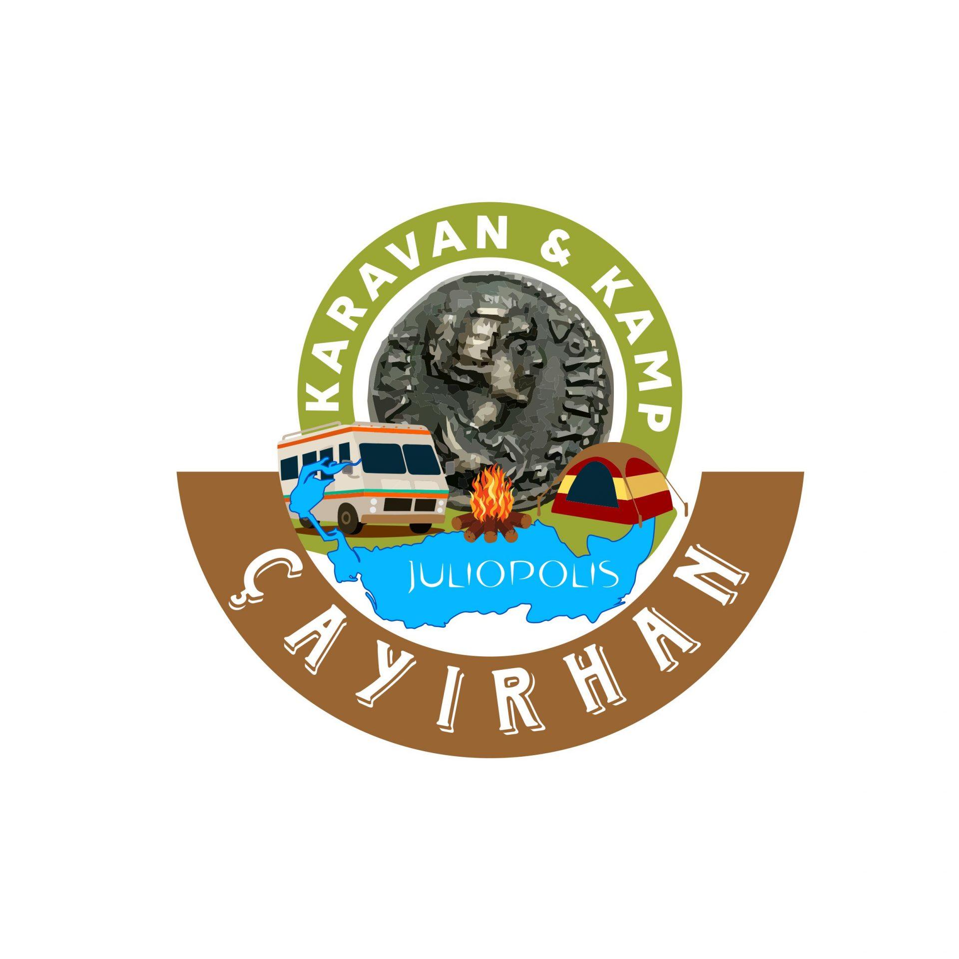 kamp ve karavan logo tasarımı
